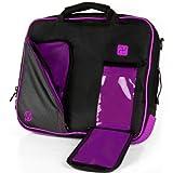 VanGoddy Plum Purple Messenger Bag for Acer CB3-131 / R 11 2-in-1 11.6' ChromeBook
