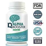 Neuroenhancer Brain Supplement for Memory, Focus & Clarity - Holistic Nootropic Stack for Brain Health and Memory Enhancement - DMAE, Bacopa, Ginkgo - IQ Alpha Brain Pill Supplements 60 Caps