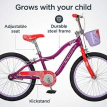 Schwinn-Elm-Girls-Bike-for-Toddlers-and-Kids-12-14-16-18-20-inch-wheels-for-Ages-2-Years-and-Up-Pink-Purple-or-Teal-Balance-or-Training-Wheels-Adjustable-Seat