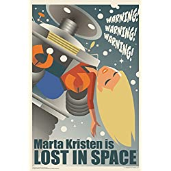 Marta Kristen Is Lost In Space by Juan Ortiz Art Print Poster 12x18