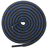 DELELE 2 Pair Non-slip Outdoor Mountaineering Hiking Walking Shoelaces Round Dark Gray Blue String Rope Boot Laces Strong Durable Bootlaces-55.12'