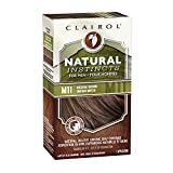 Clairol Natural Instincts Semi-Permanent Hair Color Kit For Men, 3 Pack, M11 Medium Brown Color, Ammonia Free, Long Lasting for 28 Shampoos