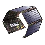 Portable Foldable Solar Panel Charger, 14W Solar Phone Charger with 3 USB Ports,Durable & Waterproof Solar Charger for Cell Phone, PowerBank, and Electronic Devices, Great for Camping, Hiking (27W)