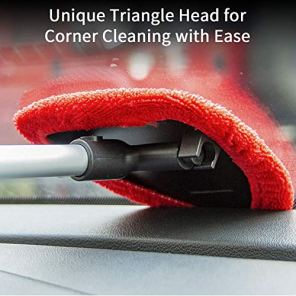 Teancll-Windshield-Cleaning-Tool-Unbreakable-Car-Window-Cleaner-with-Extendable-Handle-Auto-Car-Glass-Cleaner-with-2-Washable-Reusable-Microfiber-Pads