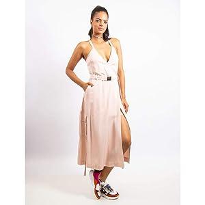 Vestido Longuete De Liocel Com Cinto