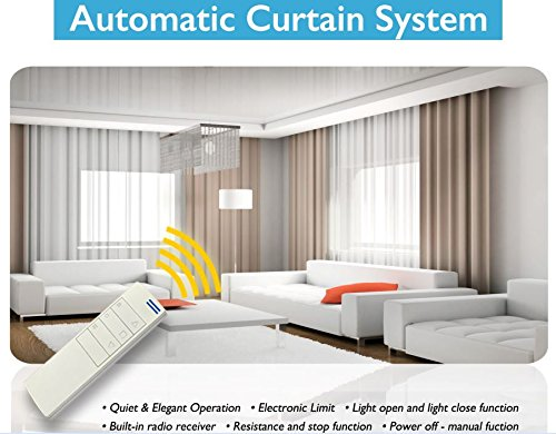 Alexa Controlled Curtains - Electric Remote Controlled Drapery System W/8' Track Center Opening & Ceiling Mount Brackets CL-920A by Curtain Call