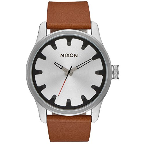 With smooth, simple lines inspired by the bowls, coping, and ledges of skate parks; the Nixon® Driver leather watch will have your style set to shred! Miyota Japanese quartz three-hand movement and crown placement at 3 o'clock. The dial features a concave dial surrounded by large chamfered solid stainless steel hour indices and custom molded hands.