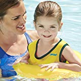 SwimSchool Deluxe TOT Swim Trainer Vest, Heavy Duty, Inflatable Swim Float with Adjustable Safety Strap, 2-4 Years, Yellow/Berry