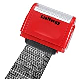 Identity Protection Roller Stamp Lionergy 1.5 Inch Wide Roller Identity Theft Prevention Security Stamp