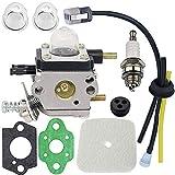 HOOAI C1U-K54A Carburetor Repower Kit for 2-Cycle Mantis 7222 7222E 7222M 7225 7230 7234 7240 7920 7924 Tiller/Cultivator