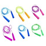 Sc0nni Jump Ropes - 7.8 feet - Set of 6 - Assorted Colors - Best Christmas Gifts for Boys and Girls Age 5-10 Year Old