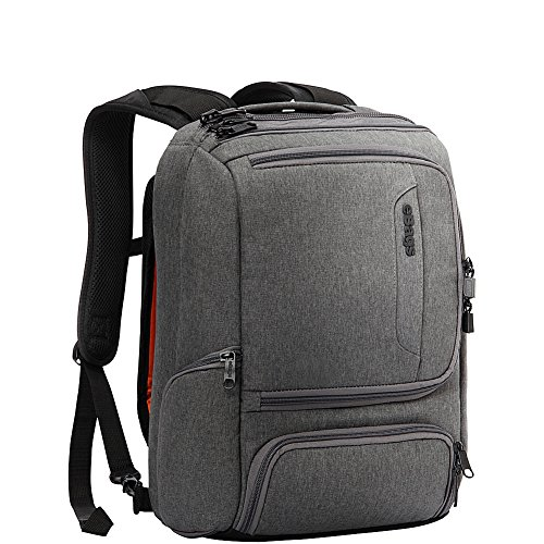 eBags Professional Slim Junior Laptop Backpack for Travel, School & Business - Fits 15.75' Laptop - Anti-Theft - (Heathered Graphite)