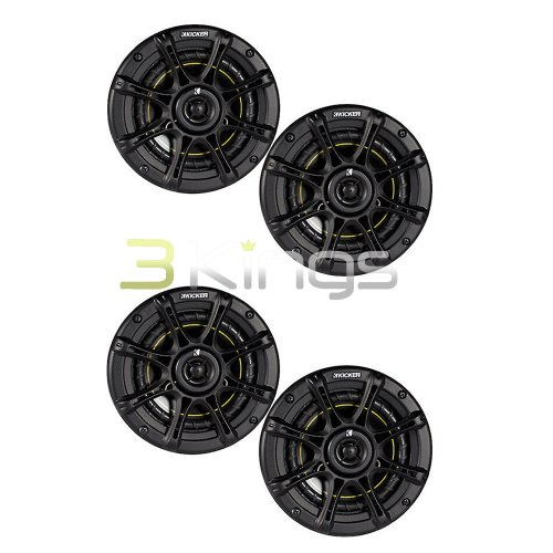 "4. NEW KICKER DS65 6.5"" 200 Watt 4-Ohm 2-Way DS Series Car Audio Speakers 11DS65"
