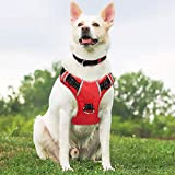 Babyltrl Dog Harness No Pull & No Choke Adjustable Pet Harness with Dog Collar Reflective Oxford Comfortable Vest Easy Control for Large Dogs