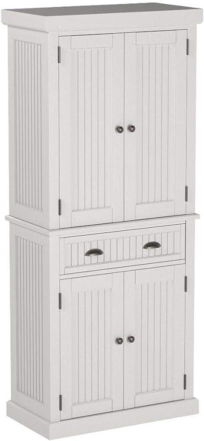 Amazon Com Home Styles Nantucket Pantry White Distressed Finish Furniture Decor