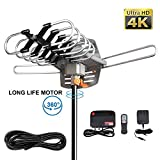 AMEISEYE Digital Amplified HD TV Antenna 50-80 Mile Range - Support 4K 1080p and All TV's w/Detachable HDTV Amplifier Signal Booster - 13.5 Lon