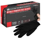 Salon-World-Safety-Guantes-desechables-de-nitrilo-negro-caja-de-100-tamano-mediano-40-mil-sin-latex-texturizado-apto-para-alimentos