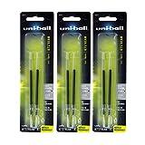Uni-Ball Jetstream RT/Jetstream Sport Ballpoint Pen Refills, Bold Point, Black Ink, Pack of 3 , Total of 6