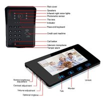 7-LCD-ID-CardPassword-Access-Control-Video-Door-Phone-Doorbell-Intercom-System-with-Night-Vision-and-Wireless-Remote-Switch