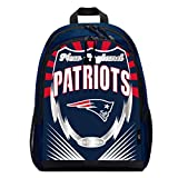 Officially Licensed NFL New England Patriots Lightning Kids Sports Backpack, Blue