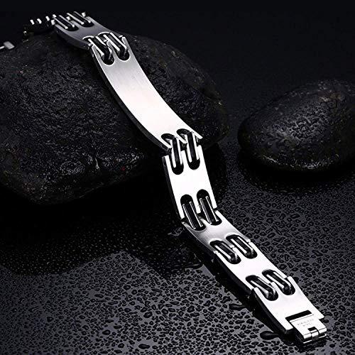 Lam Hub Fong Free Engrave Adjustable Medical Bracelets Mens Emergency ID Bracelets for Women Kids Titanium Steel Medical Alert Bracelets deal 50% off 51w6Sdff4CL