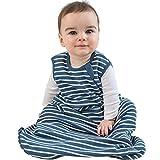 Wearable Blanket from Woolino, 4 Season, Basic, Merino Wool, 6-18m, Navy Blue