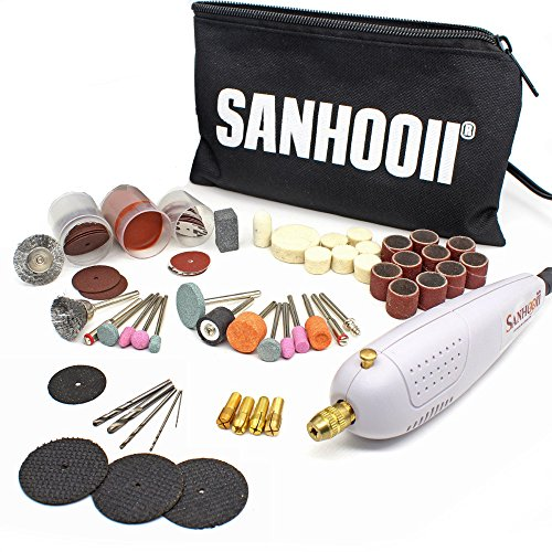 Sanhooii Rotary Tool Kit, Mini Electric Drill with 100 pcs Accessories