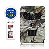 2019 12MP 1080p Professional Outdoor Trail Camera - Waterproof Hunting Game Stealth Cam with Night Vision Motion Activated Sensor for Wildlife Monitoring