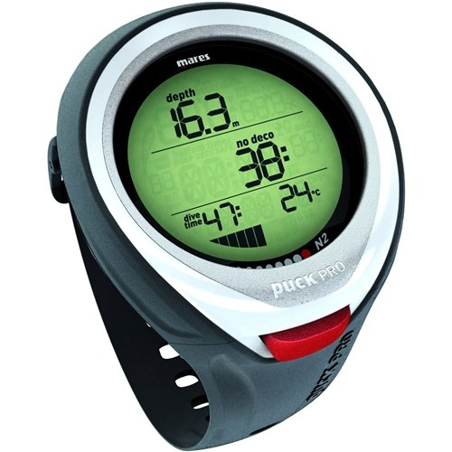 Mares Puck Pro Dive Watch Computer for Scuba Diving (White)