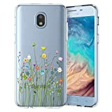 Unov Galaxy J7 2018 Case Clear with Design Slim Protective Soft TPU Bumper Embossed Pattern Cover for Galaxy J7 Crown J7 Refine J7 Star J7 V J7V 2nd Gen J7 Aero J737V(Flower Bouquet)