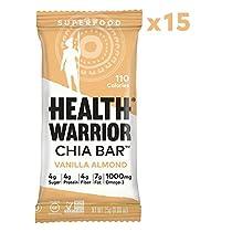 HEALTH WARRIOR Chia Bars, Vanilla Almond , Gluten Free, Vegan, 2