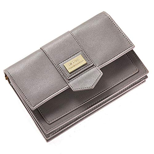 Women Wallet Girls Crossbody Cell Phone Bag Purse PU Leather Storage Pouch With Credit Card Holder For iPhone Samsung Smartphone Under 6.3 Inch