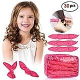 30pcs Hair Rollers - HailiCare Foam Hair Roller for Hair DIY - Flexible Soft Pillow Curlers - No Heat for Women & Kids (Pink)