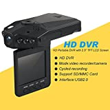 A Z Link Mini 2.5-Inch Dash Cam With HD Car Led Ir Vehicle DVR Road Dash Video Camera Recorder Rotatable Traffic Dashboard Camcorder - Lcd Recorder With 270 Degrees Whirl Black