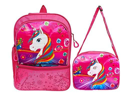 Aashiya Trades Aashiya Pink School Bag & Sling Bag – Combo Pack School Bag Set for Girls Age Group 2 to 6 Years