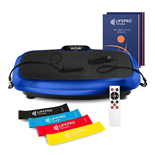 LifePro 3D Vibration Plate Exercise Machine - Dual Motor Oscillation, Pulsation + 3D Motion Vibration Platform   Full Whole Body Vibration Machine for Home Fitness, Weight Loss, Toning & Shaping.