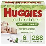HUGGIES Natural Care Baby Wipes, 6 Packs, 288 Total Wipes