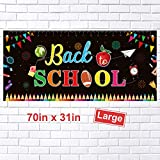 FEPITO Welcome Back To School Banner First Day of School Banner Large Fabric Banner Teacher Banner for Back to School Party Decorations Office Classroom Decor (70.87 x 31.5 Inch)