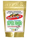 Virgin Extracts (TM) Pure Premium Organic Cranberry Powder Extract 36:1 Concentrate (36 x Stronger than Freeze Dried) 8oz Pouch