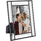 J Devlin Pic 354-46HV Beveled Glass Picture Frame Wedding Frame Keepsake Tabletop Photo (4x6)