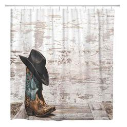 Cowgirl Boot Shower Curtain