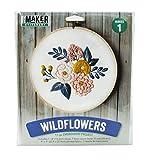 Mini Maker Wildflowers Spring Bloom Kit: 11 Piece Embroidery Project (kit, Embroidery, DIY, Flowers, Spring, Hoop, Mini Maker)