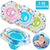 Funburg Baby Swimming Ring,Inflatable Float with Double Airbag Safety Seat,Pool Bathtub Float Infant Boys Girls Summer Pool,Training Aid PVC Pool Floats for Toddlers of 3-36 Months - Blue
