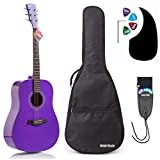 Classical Guitar by Hola! Music, Full Size 39 Inch (Model HG-39GLS), Natural Gloss Finish - FREE Padded Gig Bag Included