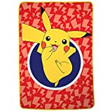 Franco Kids Bedding Super Soft Plush Microfiber Blanket, Twin/Full Size 62' x 90', Pokemon Pikachu