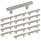 homdiy 3 inch Cabinet Handles Brushed Nickel Cabinet Pulls 15 Pack - HD201SN Cabinet Drawer Pulls Bathroom Cabinet Hardware Metal Drawer Pulls Brushed Nickel Kitchen Hardware for Cabinets