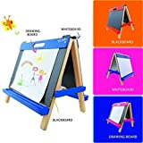 Mont Marte Tabletop Easel for Kids, Nice Art Easels with Roll Papers for Kids&Toddlers-Blue