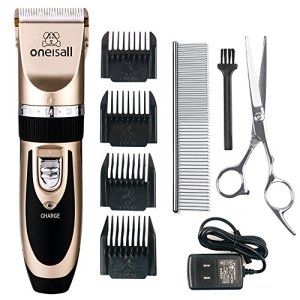 oneisall Dog Shaver Clippers Low Noise Rechargeable Cordless Electric Quiet Hair Clippers Set for Dogs Cats Pets 2