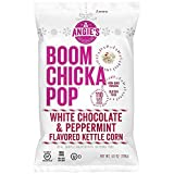 Angie's Boom Chicka Pop Holidrizzle Kettle Corn Holiday White Chocolate Peppermint ONE 4.5 oz.Bag