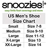Snoozies Mens Two Tone Fleece Lined Slippers | Comfortable Slippers for Men | Fuzzy Mens Slipper Socks | Soft Sole Mens House Slippers | Navy | Medium
